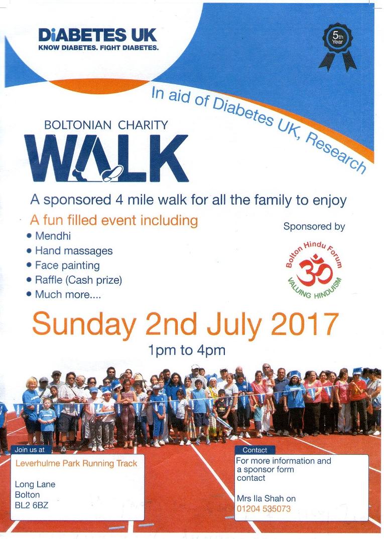 diabetes walk poster