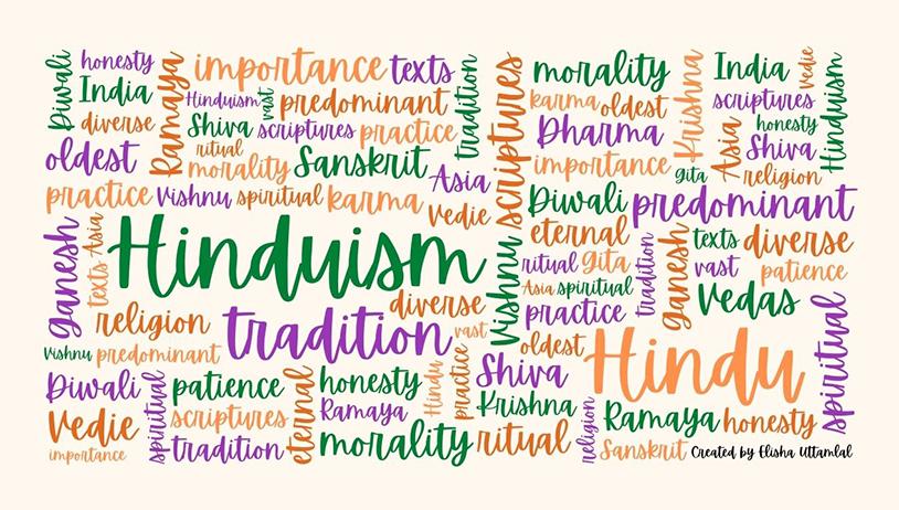 Hindu word art